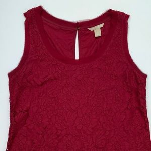 Banana Republic Sleeveless Maroon Top